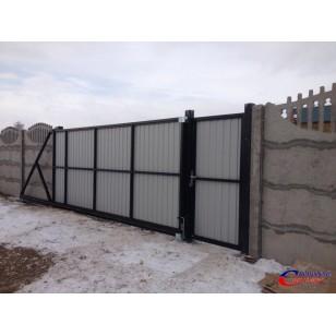 Комплекты сдвижных ворот собственного производства